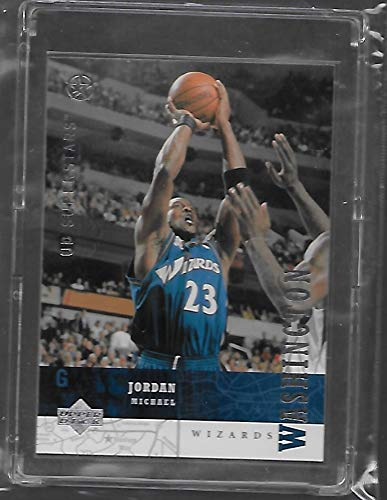 Michael Jordan 2002-03 Upper Deck SuperStars Basketball Card # 247 - Washington Wizard - Stored in a Protective Plastic Display Case!! (Basketball Deck 03 Upper)