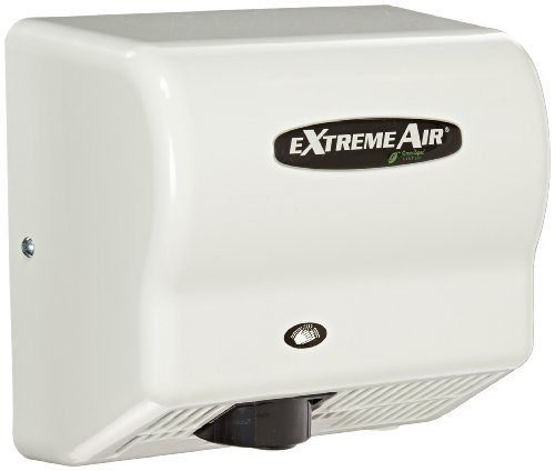 American Dryer ExtremeAir GXT9 ABS Cover High-Speed Automatic Hand Dryer, 10-12 Second Dries, 100-240V, 1,500W Maximum Power, 50/60Hz, White ()