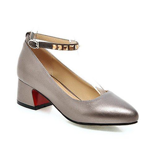 amoonyfashion-womens-pu-solid-buckle-pointed-closed-toe-kitten-heels-pumps-shoes-gray-35