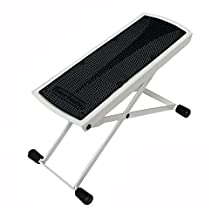Tetra-Teknica Essentials Series GFR-01 6-Position Height Adjustable Guitar Foot Rest, Color White