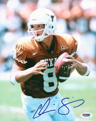 Athlon CTBL-016426 Chris Simms Signed Texas Longhorns 8 x 10 Photo - PSA Hologram Orange Jersey Passing by Athlon