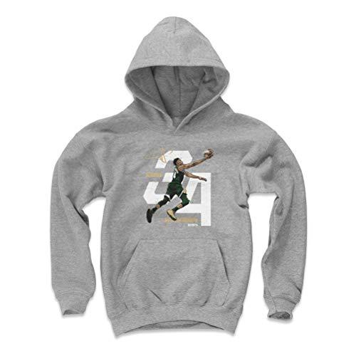 500 LEVEL Giannis Antetokounmpo Milwaukee Basketball Youth Sweatshirt (Kids X-Large, Gray) - Giannis Antetokounmpo Layup W WHT