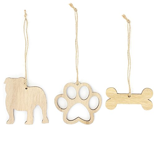 nament Dog Lover Gifts Wooden Christmas Ornaments 3-Piece Bundle (Bulldog Christmas Ornament)