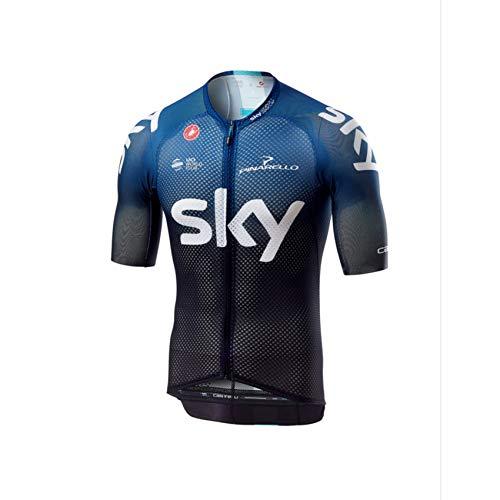 (Castelli Team Sky Climber's 3.0 Full-Zip Jersey - Men's Black/Dark Ocean,)