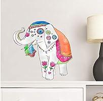 Etiqueta De La Pared (Diy) Color De Dibujos Animados Elefante ...