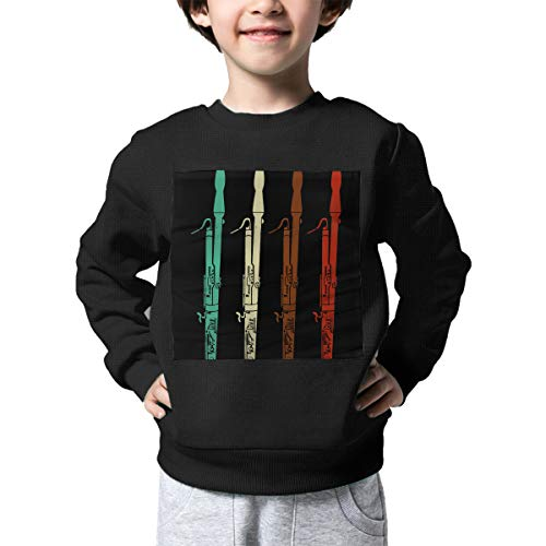 Vintage Retro 70s Bassoon Children Baby Boys Girls Long Sleeve Knit Sweaters Jumper Top Blouse 2-6 Toddler ()