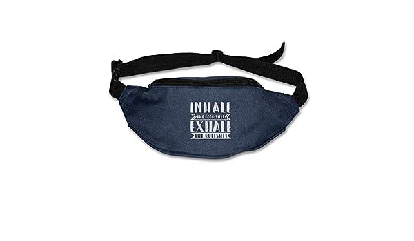 Inhale The Good Shit Exhale The Bullshit Sport Waist Bag Fanny Pack For Hike