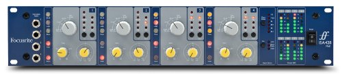 Focusrite ISA428 MkII Four-Channel Mic Preamp Supporting Optional Eight-Channel A-D Converter (Preamps Mic Focusrite)