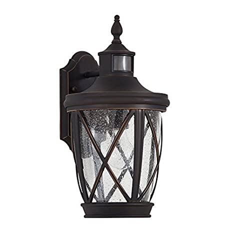 allen and roth outdoor lighting craftsman lights allen roth castine 1625in rubbed bronze motion activated medium base e