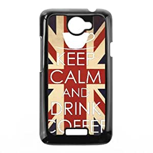 Keep Calm Drink Coffee HTC One X Cell Phone Case Black P6690371