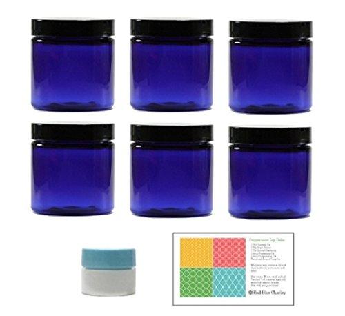 blue 4 oz plastic jar - 3