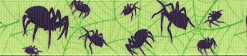 Country Brook Design | 5/8 Inch Itsy Bitsy Spider Grosgrain Ribbon Closeout, 5 Yards -