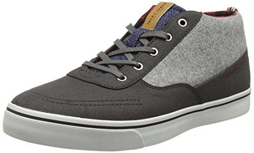 Jack & Jones Herren Combo Laine Jfwshark Mi Sneaker Grau Basse-top (asphalte)