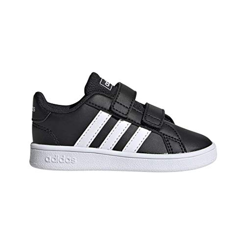 adidas Baby Unisex's Grand Court I Tennis Shoe, Black/White/White, 5K
