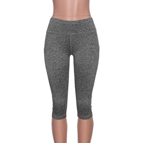 Collant in S Fitness Maglia 3 Grigio Grigio Capri Yoga sportive 4 Elastico Leggings Pantaloni Nero XL Leggings Pantaloni Yoga Pizzo Donna Basic Styledresser Donna qwX8X1