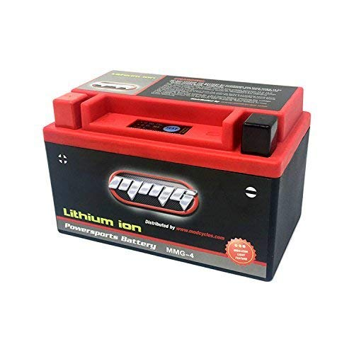 MMG YTZ10S Z10S Lithium Ion Sealed High Performance Powersports Battery 12V 300 CCA, No Spills, Fully Charged and Activated, Ready to Use (MMG4) (Lithium Ion Battery Solar)