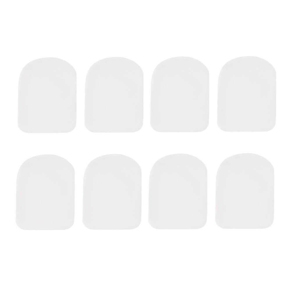 yibuy 0, 8mm transparente boquilla parches pads cojines trapezoidal Set de 8 etfshop Yibuy10
