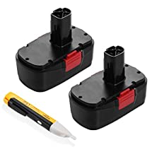 Powerextra 2 Pack 3.0Ah 19.2V Craftsman Replacement Battery for Craftsman C3, 130279005, 11375, 11376, 11045, 1323903, 315.115410, 315.11485, 315.114850, 315.114852 Craftsman 19.2 Volt Battery