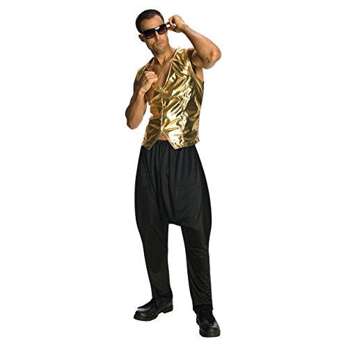 Black MC Hammer Parachute Pants]()
