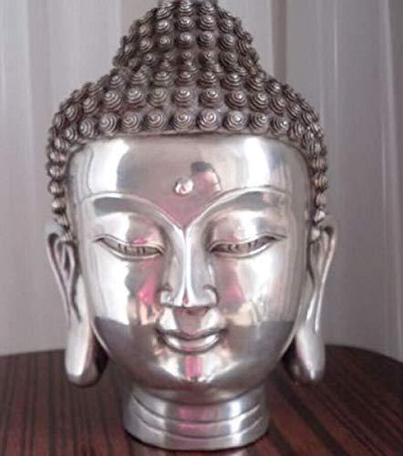 VietGT Bronze Statue - Rare Tibet Buddhist Bodhisattva Sakyamuni Multi Silver Four Buddha Buddha Statue Statues 31Cm - by GTIN - 1 Pcs - Buddha Garden Statue (Silver Bronze Statue)