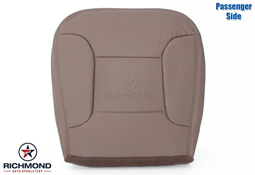 1992-1996 Ford Bronco Eddie Bauer - Passenger Side Bottom Replacement Leather Seat Cover, Tan (Ford Seats Bronco)