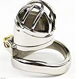 Toys Short Men's Stainless Steel Curved Snap Ring Chastity Lock Adult Products