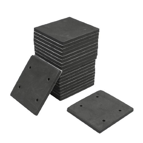 20 Pcs Square Foam Replacement Sander Back Pad Sanding Mat Black, Model: