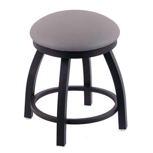 Holland Bar Stool Co. 802 Misha Vanity Stool with Black Wrinkle Finish and Swivel Seat, 18