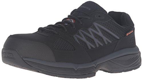 Skechers for Work Hommes Conroe Searcy Wide Work Shoe, Noir