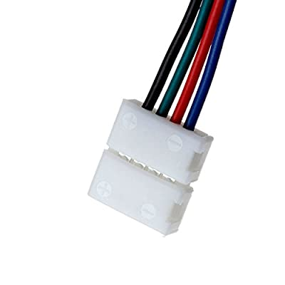 SUPERNIGHT 10mm RGB LED Light Strip Connectors for 5050 3528 LEDs 90 Degree Corner Strip to Strip -- L Type , 5 Pieces / Pack