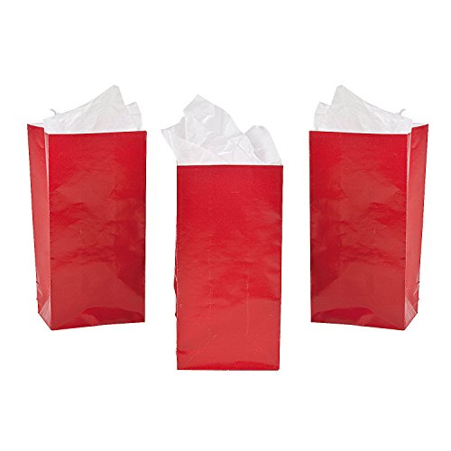 Fun Express - Mini Red Paper Treat Bags (24pc) - Party Supplies - Bags - Paper Treat Bags - 24 -