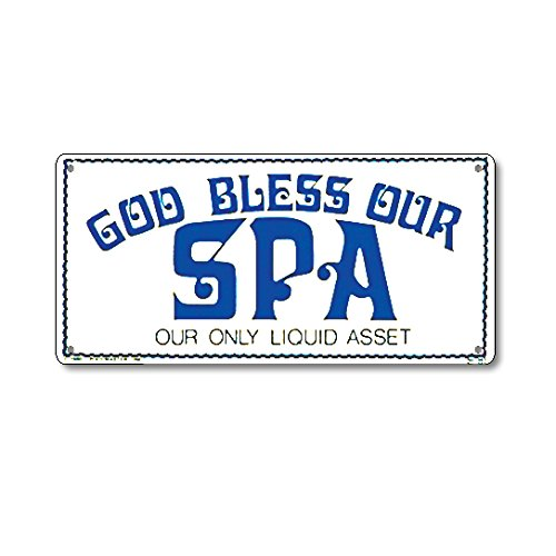 Poolmaster Sign for Residential Swimming Pools and Spas, God Bless Our Spa