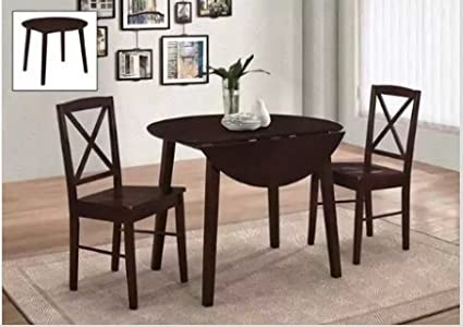 Amazoncom 25 Home Decor Dining Table Set For Two Wood Round 3