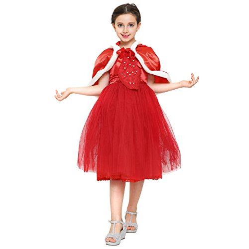 Disney Frozen Deluxe Elsa Toddler Child Costumes (Girls Princess Dress Costume: Gown for Halloween and Dress Up: Ages 6-7 Red)