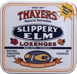 Thayers скользкий вяз пастилки шиповника Tangerine 42 LOZ