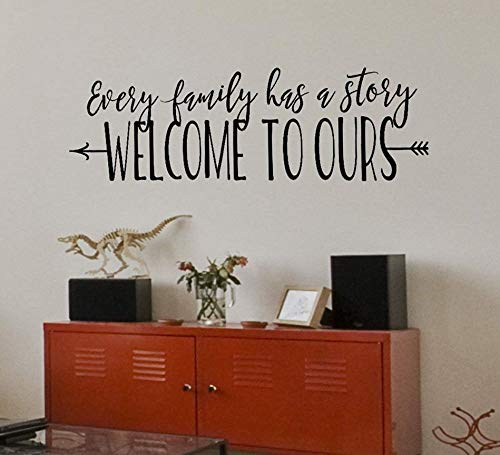 (Waldenn Every Family HAS A Story Welcome to Ours Arrow Wall Art Decal Quote Words Decor   Model DCR - 1268)
