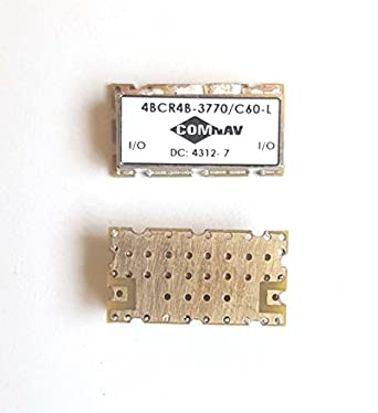 COMNAV 3770 MHz SMT Bandpass Filter, 4-pole, 60 MHz BW, 4BCR4B-3370