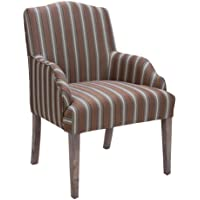 Homelegance 2516A Accent/Arm Chair (Set of 2), Stripe Fabric