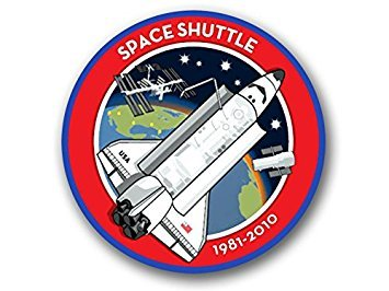 MAGNET ROUND Space Shuttle 1981-2010 Logo Magnet(nasa seal mission) Size: 4 x 4 inch