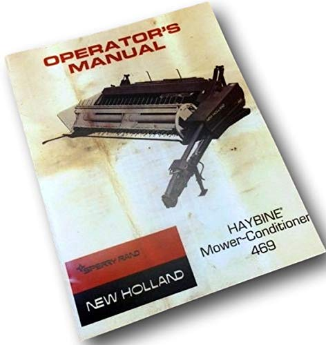 New Holland Haybine Mower 469 Owners Operators Manual Service Sickle Guard ()