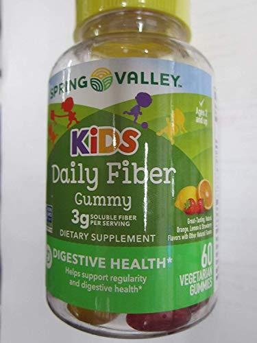 Spring Valley Kids Daily Fiber 3 g Digestive Health, Fruit, 60 Gummies