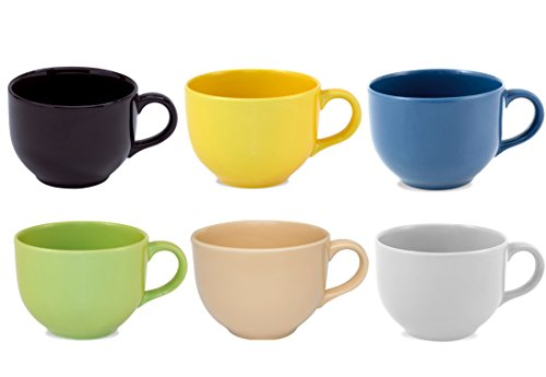 Jumbo Soup Mug - Oxford Biona Jumbo Mugs (Set of 6) (Assorted Colors II)
