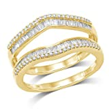 OMEGA-JEWELLERY-12-ct-Natural-Round-and-Baguette-Wrap-Guard-Ring-Solid-14K-Yellow-Gold-5