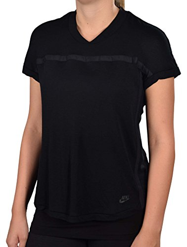 Nike Womens Short Sleeve Made in Italy Sport Top-Black-Small