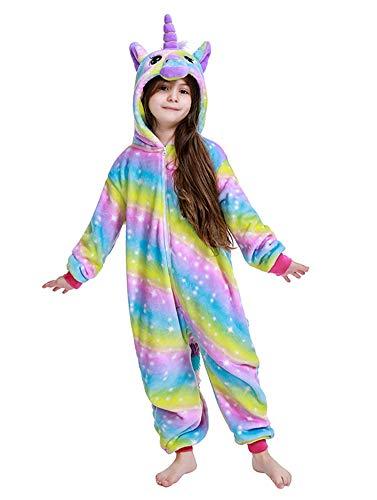 Matching Girls Costumes (PlushCosplay Kids Unicorn Costume Onesie Rainbow Galaxy Animal Pajamas Halloween Cosplay Yellow)