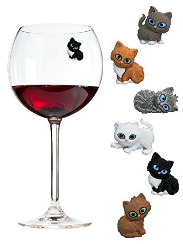 Cat Wine or Drinking Glass Charms