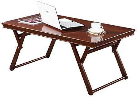 WYJW Mesa Plegable Madera Maciza Simple Salón Creativo Escritorio ...