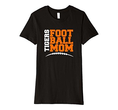 Womens Tigers Football Mom T-Shirt High School Football Tee Medium Black
