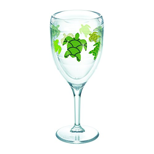 Tervis 1243001 Turtle Pattern, Wine Glass, - Glasses Turtle