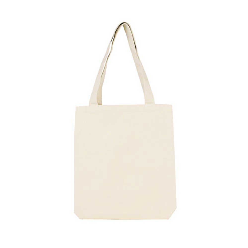 DALIX 14'' All Natural Cotton Tote Bag (Heavy Canvas)-2 PACK